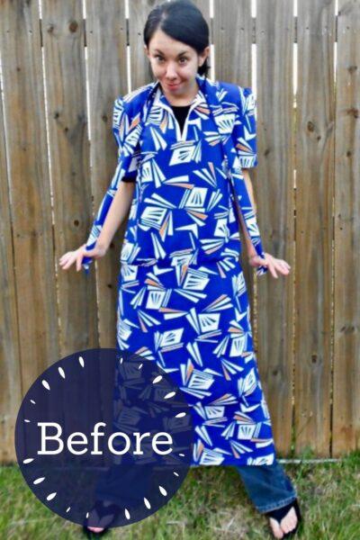 refashionista All the Angles Strapless Dress Refashion pin 3