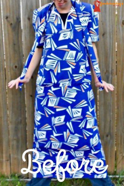 refashionista All the Angles Strapless Dress Refashion pin 5