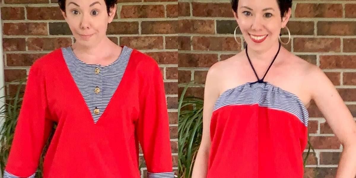 refashionista Easy No-Sew Halter Top Refashion featured image