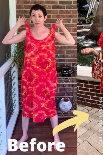 refashionista Tie-Dye Coverup to Kaftan Mini Dress pin 4