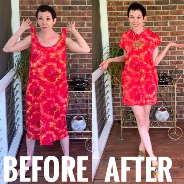 refashionista Tie-Dye Coverup to Kaftan Mini Dress pin 9