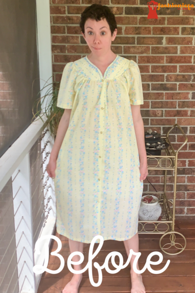 Snap Front Duster to Peachy Keen Day Dress Refashion pin 1