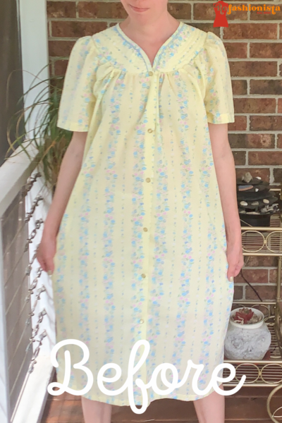 Snap Front Duster to Peachy Keen Day Dress Refashion pin 4