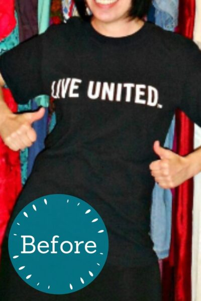 T-shirt to halter top refashion pin 3